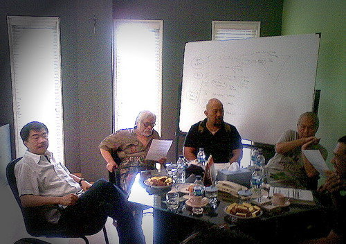 Dari kiri Johannes Soerjoko,Remy Sylado,Indro Warkop dan Rudy Badil