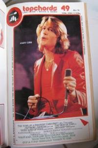 Majalah Topchord edisi No.49 tahun 1981 dengan cover Andy Gibb
